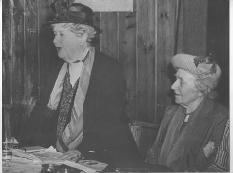 Visiting Swaffham WI in November 1946