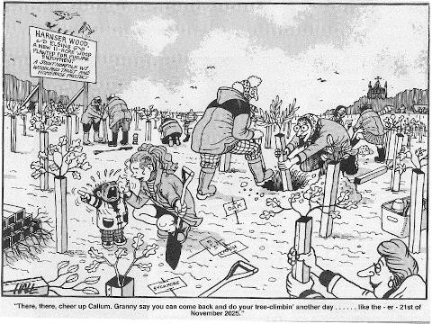 Cartoon Tony Hall/EDP